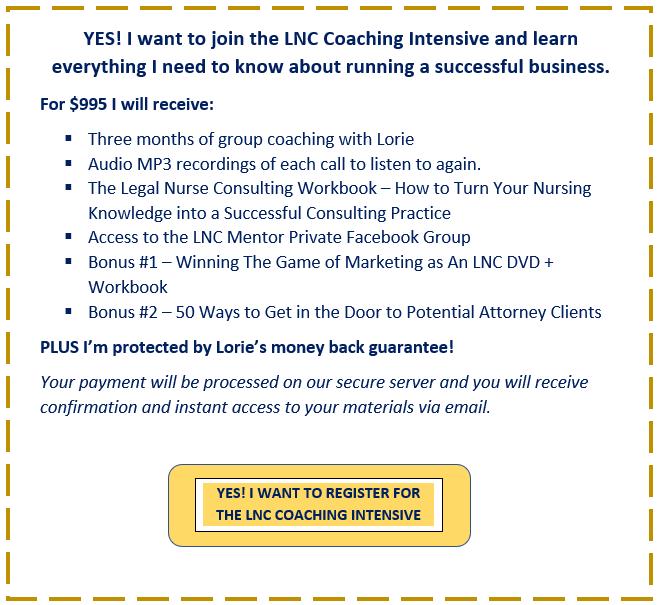 LNC Coaching Intensive