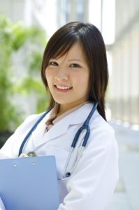 Medical nurse smiling